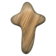 Concave Olive Wood Hope Cross cm.10 - 4""