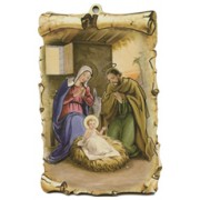 "Nativity Scroll Plaque cm.10x15 - 4""x6"""