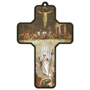 "Derniere Cene/ Last Supper Wood Laminated Cross cm.13x9 - 5""x 31/2"""