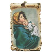 "Ferruzzi Scroll Plaque cm.10x15 - 4""x6"""