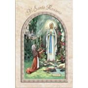 """Lourdes/ The Holy Rosary Book Italian Text cm.9.5x15.5 - 3 3/4""""x 6"""""""