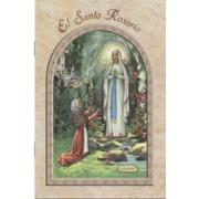 "Lourdes/ The Holy Rosary Book Spanish Text cm.9.5x15.5 - 3 3/4""x 6"""