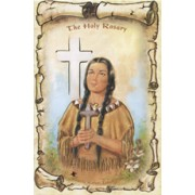 "Kateri Tekakwitha/ The Holy Rosary Book English Text cm.9.5x15.5 - 3 3/4""x6"""