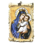 "Mount Carmel Scroll Plaque cm.10x15 - 4""x6"""
