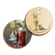 Communion Boy 3D Bi-Dimensional Round Bookmark cm.7 - 2 3/4""