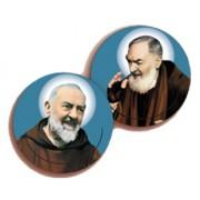 """Padre Pio 3D Bi-Dimensional Round Bookmark cm.7 - 2 3/4"""""""