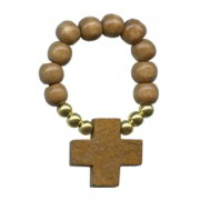 Wood Decade Rosary Natural mm.8