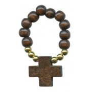 Wood Decade Rosary Brown mm.8