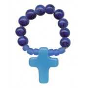 Glass Bead Decade Rosary Cobalt Blue mm.6