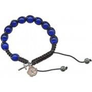 A Grade Cats Eye Rosary Bracelet Deep Blue 10mm Beads