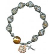 A Grade Lamp Works Glass Bead Rosary Bracelet