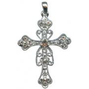 "Swarovski Crystal Cross cm.6 - 2 3/8"""