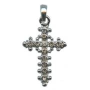 """Swarovski Crystal Cross cm.4.2- 1 5/8"""" Boxed with Neckace and Swarovski Tag"""