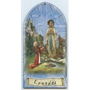 """Lourdes Plaque cm.10x20 - 4""""x8"""""""