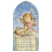 "Guardian Angel/ Prayer Plaque Italian cm.10x20 - 4""x8"""