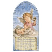 "Guardian Angel/ Prayer Plaque Spanish cm.10x20 - 4""x8"""