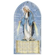 "Miraculous/ Hail Mary Prayer Plaque Spanish cm.10x20 - 4""x8"""