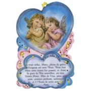 "Hail Mary Prayer Plaque cm.10x15 - 4"" x 6"" French Text"