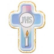 "Communion JHS Laquered Cross cm.10x14 - 4""x 5 1/2"""