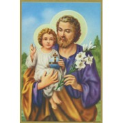 "St.Joseph Plaque cm.15.5x10.5 - 4""x6"""