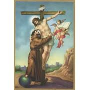 """St.Francis Plaque cm.15.5x10.5 - 4""""x6"""""""