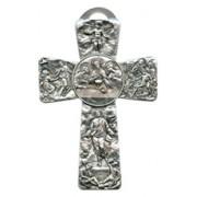 "Communion Pewter Cross cm.12.5-5"""