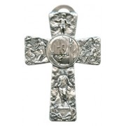 Last Supper Pewter Cross cm.12.5 - 5""