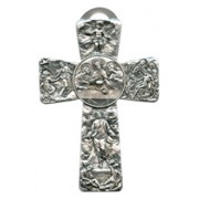 Communion Pewter Cross cm.16 - 6 1/4""