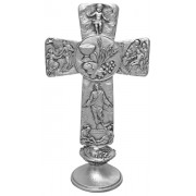 """Communion Pewter with Base Cross cm.16 - 6 1/4"""""""