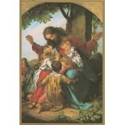 "Jesus with Children Plaque cm.15.5x10.5 - 4""x6"""
