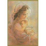 "Mother and Child Plaque cm.15.5x10.5 - 4""x6"""