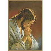 "Jesus Praying Plaque cm.15.5x10.5 - 4""x6"""