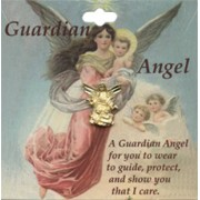 Guardian Angel Lapel Pin English Card