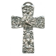 Confirmation Dove Pewter Cross cm.16 - 6 1/4""