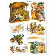 "Nativity 8 Stickers cm.12x16 - 5""x6"""