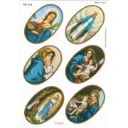 """6 Assorted Stickers cm.12x16 - 5""""x6"""""""