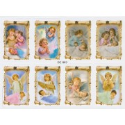 "Guardian Angels 8 Stickers cm.12x16 - 5""x6"""