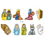 "Nativity 9 Stickers cm.12x16 - 5""x6"""