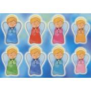 """Guardian Angel Glow in the Dark Stickers cm.6.5x10 - 2.5""""x4"""""""