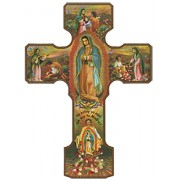 Our Lady of Guadalupe Cross cm.24.5 - 9 1/2""