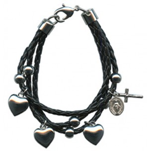 https://www.monticellis.com/1231-1286-thickbox/black-synthetic-leather-bracelet-solid-silver-heart-charms-gift-boxed.jpg