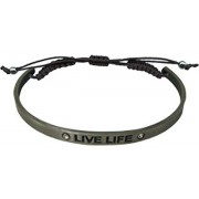 """Pewter Bracelet with Inspirational Words """"LIVE LIFE"""" Gift Boxed"""