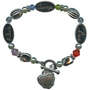 """Inspirational Bracelet """"Believe, Love, Courage"""" Gift Boxed"""