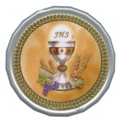 Chalice White Octagon Rosary Box cm.5 - 2""