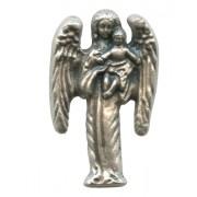 "Guardian Angel Lapel Pin Pewter mm.25 - 1"""