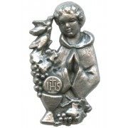 Boy Communion Lapel Pin Pewter mm.25 - 1""