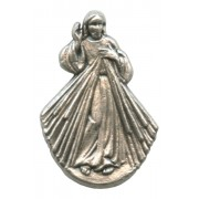 """Divine Mercy Lapel Pin Pewter mm.21- 3/4"""""""