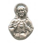 "Sacred Heart of Jesus Lapel Pin Pewter mm.21- 3/4"""