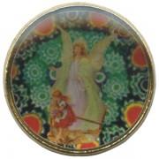 "Guardian Angel Dome Lapel Pin cm.2 - 3/4"""
