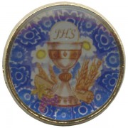 Chalice/ Communion Dome Lapel Pin cm.2 - 3/4""